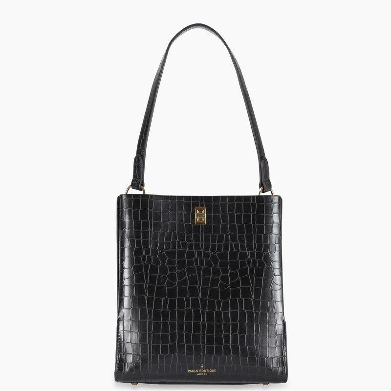 PAULS BOUTIQUE Γυναικεία Τσάντα - GIGI SHOULDER BAG BLACK CROC AVONDALE