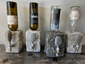 Booze or wine rock dispensers made of solid granit