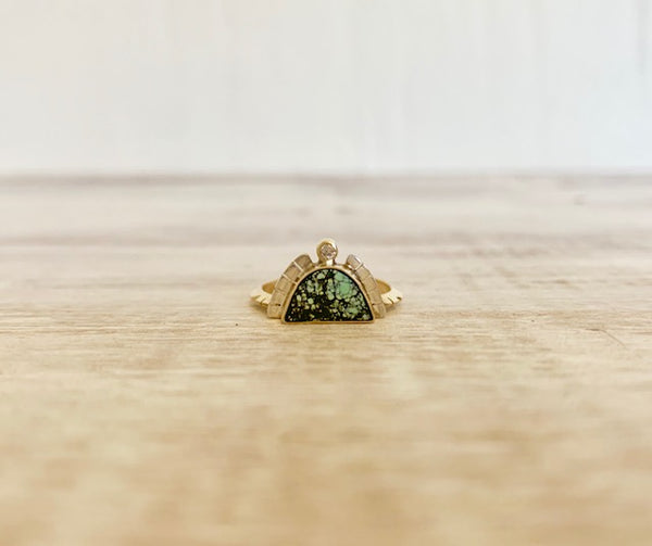 Sunrise Ring with Diamond