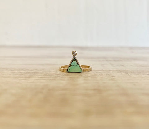 Triangle Ring with Diamond
