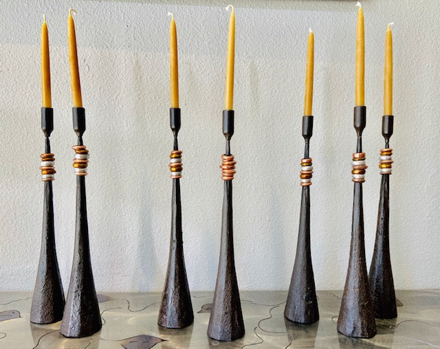 Hand forged Iron Candlestick