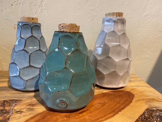 Clay Bottles w/ Cork