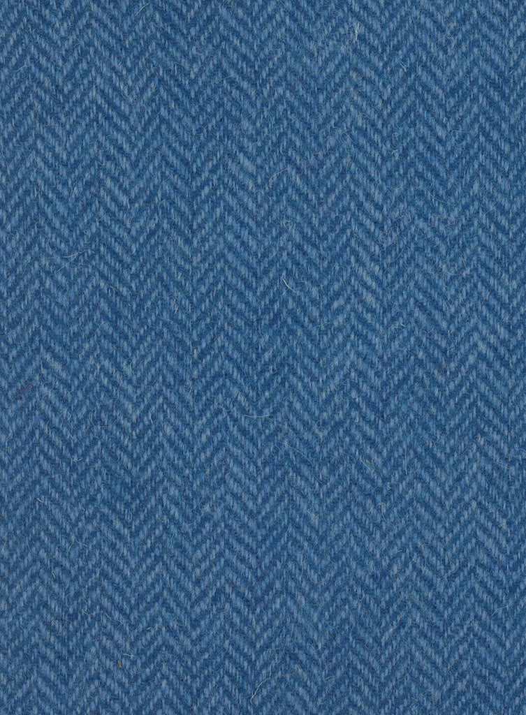 Dark blue and light blue herringbone