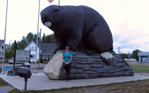 Beaver sculpture at Beaverlodge AB