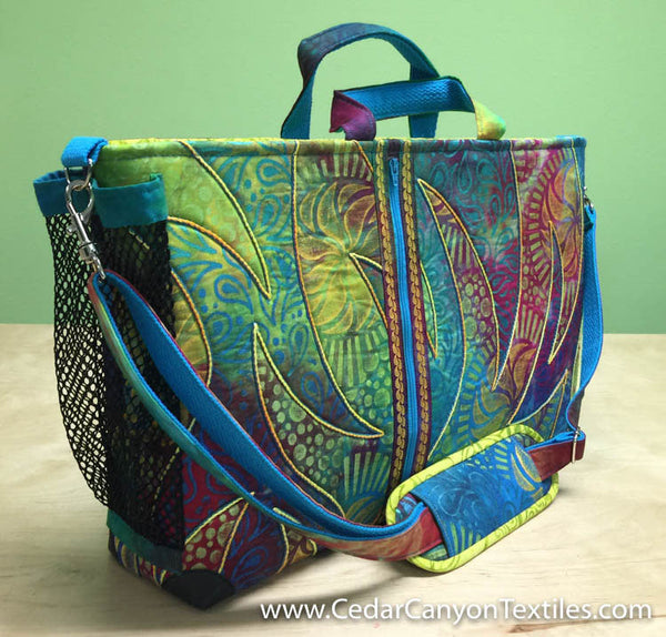 Urban Computer Satchel by Shelly Stokes of Cedar Canyon Textiles