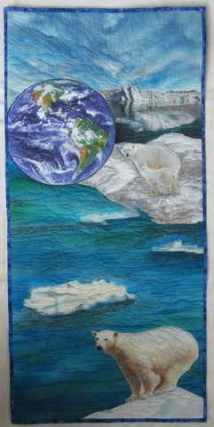 Global Warming: Save Our Planet art quilt