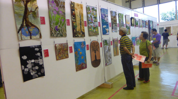 Wide view of Canadian Art Quilts at Taiwan Show