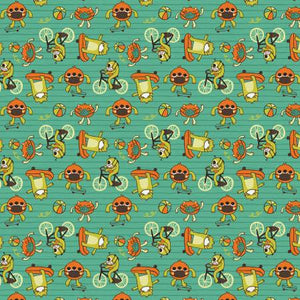 Fabric,  Mask, Have Fun, Stay Safe Monsters Green # 120-21817