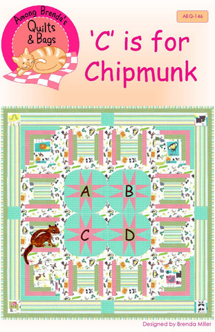 Pattern, C is for Chipmunk, Baby Quilt