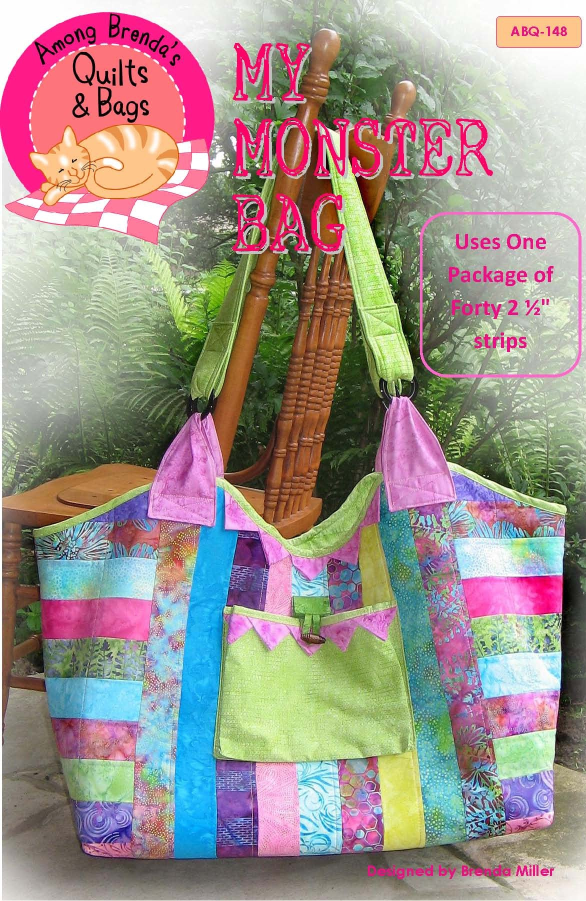 Pattern, My Monster Bag, retreat or quilt guild bag