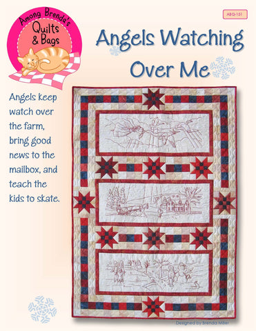 Pattern, Angels Watching Over Me, Lap Quilt or Wall Hanging