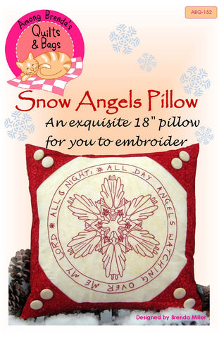 Pattern, Snow Angels Pillow