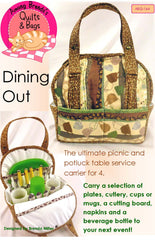 Pattern, Dining Out, Table Service Carrier for Picnics