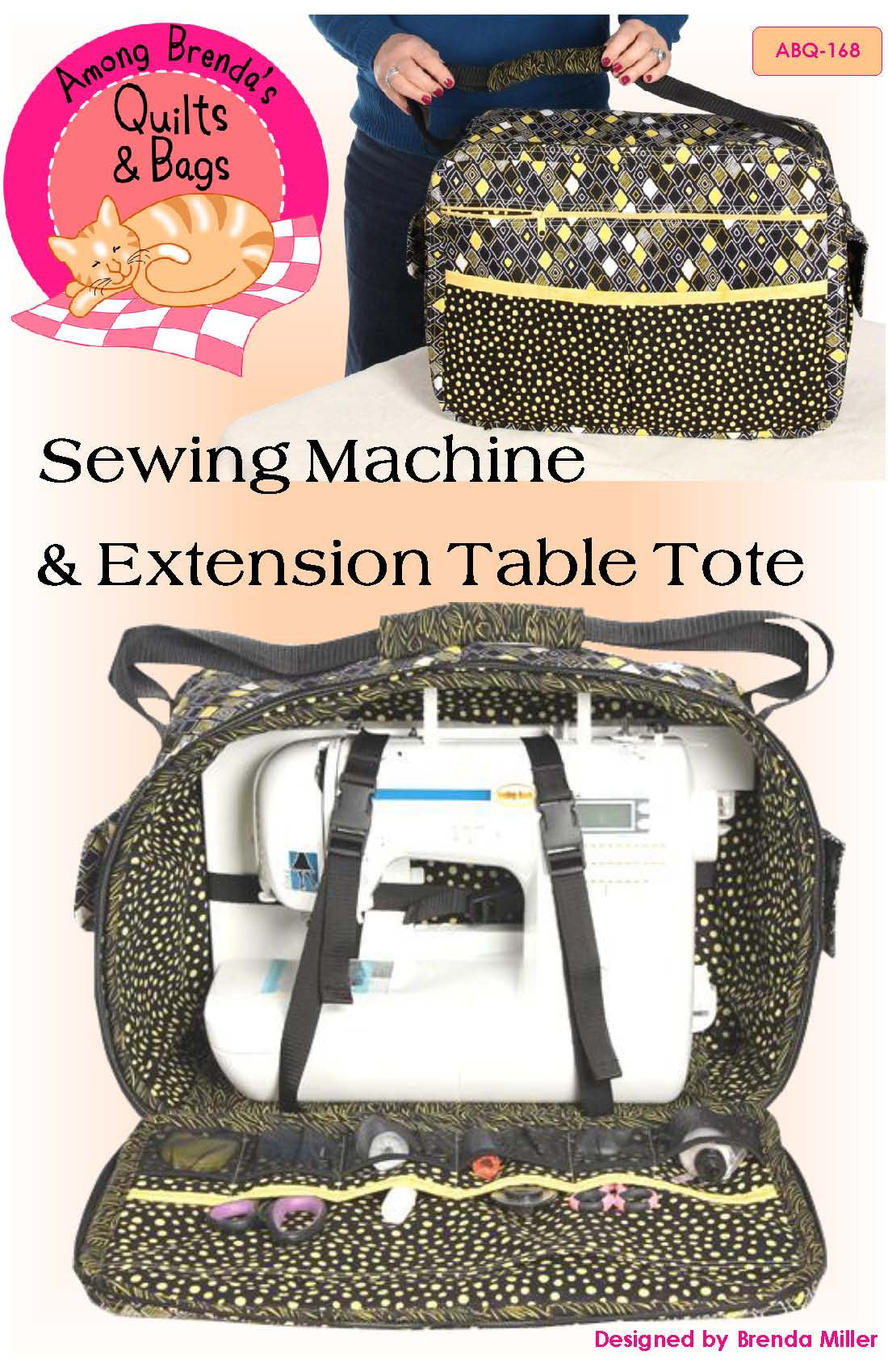 Sewing Machine and Extension Table Tote Pattern