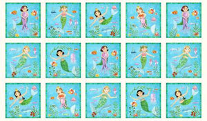 Fabric, Little Mermaids Panel 17002E-CRM