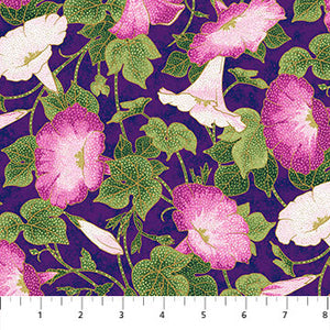 Fabric, Morning Glory Shimmer Purple 23321M-88