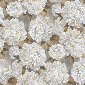 Fabric, Ophelia, Gray/Green Supersize Peony 23947-34