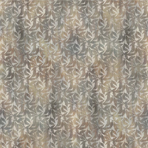 Fabric, Ophelia, Gray/Brown Leaves 23950-34