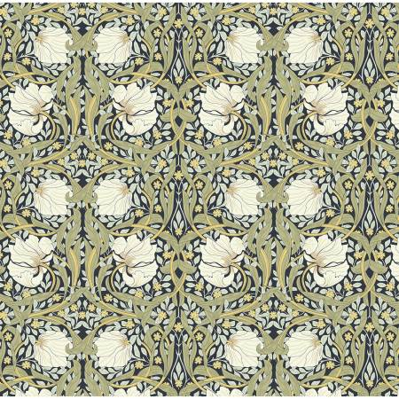 Fabric,  William Morris, Pimpernel Blue Nights 2681C-01