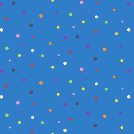 Fabric, Beige Zootopia, Blue Dot 626E-BLUE