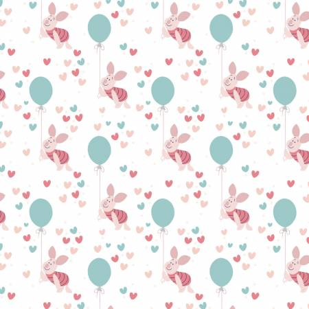 Fabric, Winnie the Pooh Piglet Balloon, Camelot 85430522-1