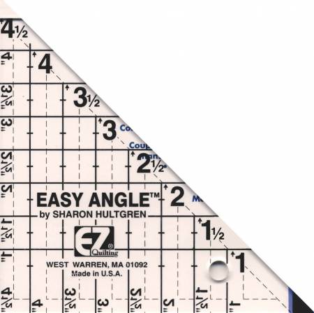 "Ruler, Easy Angle Triangle 4 1/2"", 45 Degree"