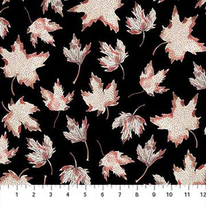 Fabric, After The Rain, Black Leaves 90162-99