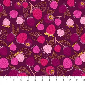 Fabric, Sangria Raspberries 90207-84