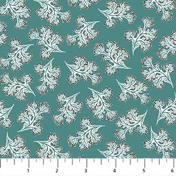 Fabric, Sea Botanica, Teal Sea Weeds 90244-67