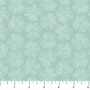 Fabric, Sea Botanica, Teal Sand Dollar Urchin Texture 90245-64