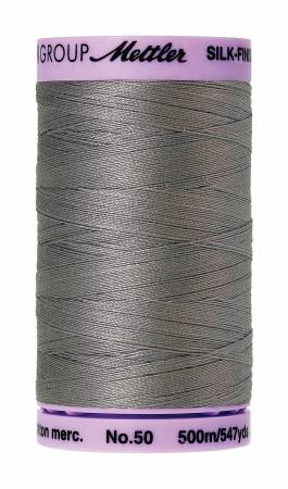 Thread, Mettler: Large Spool, 48 Assorted Colors - 50wt Cotton Silk Finish 547yd/500M