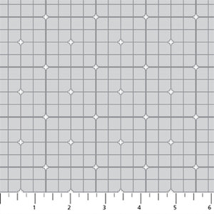 Fabric, Serenity Basics, Grid, Light Gray 92011-90