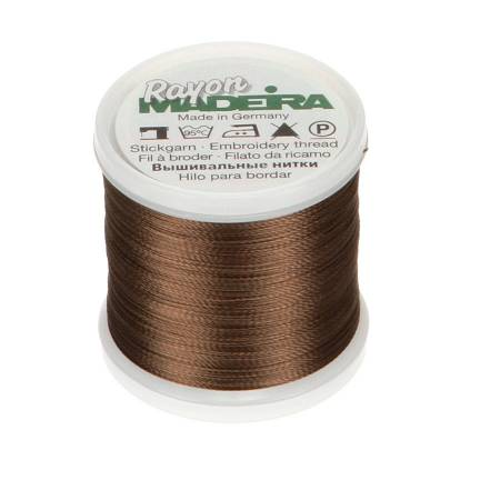 Rayon Machine Embroidery Thread - Brown, Tan, Grey,  40wt 220yds