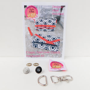 Bag Hardware Kit, Classic Fold-over Clutch with designer label