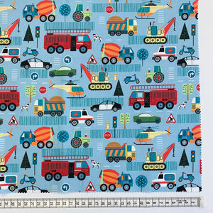 Fabric, Around Town Collection, Blue Road 80320