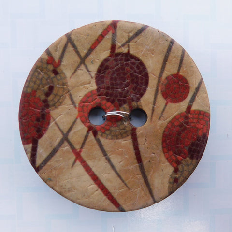 Button, Autumn Dot and Dash, 1 1/2""