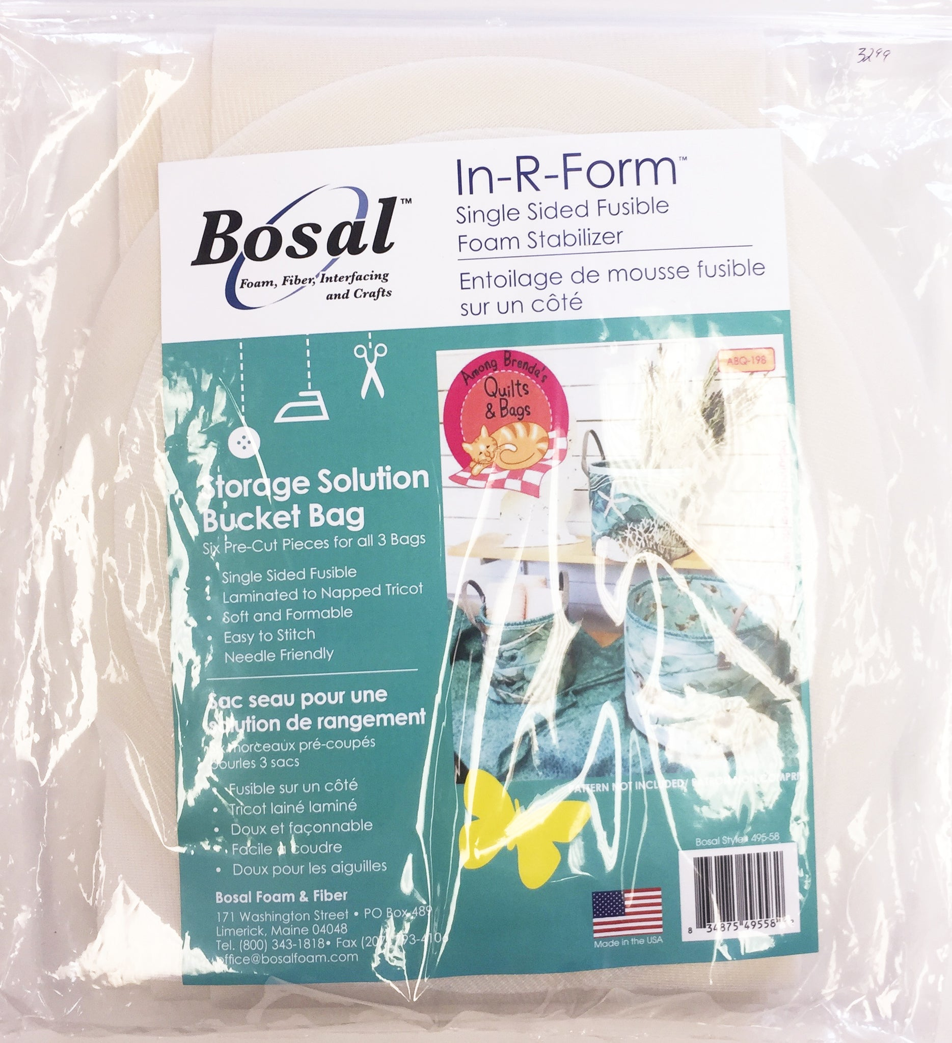 Bosal Storage Solution Bucket Bag Pre-cut, Bosal In-R-Form Single Sided Fusible Foam