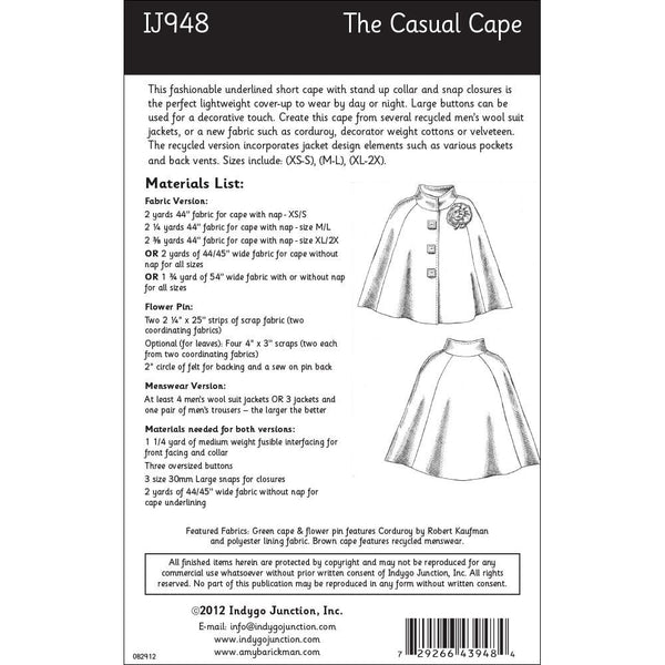 Patterns, Casual Cape