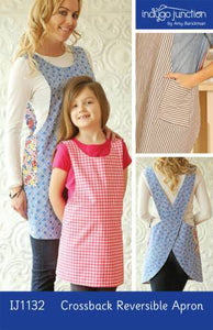 Patterns, Crossback Reversible Apron