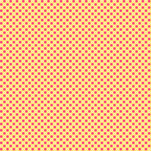 Fabric, Cutie Tootie Yellow w. Pink Dot 1495-42