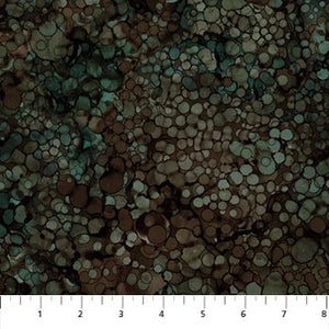 Fabric, Whispering Pines, Brown/Green Multi Raindrops DP23758 36