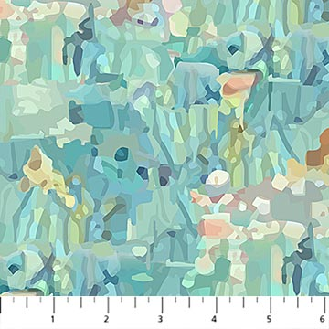 Fabric, Fantasy Forest, Light Turquoise Multi DP23799-63