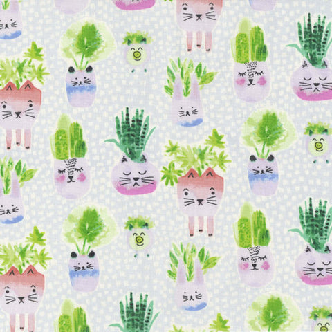 Fabric, Meows it Going?, Planter Pals 1512