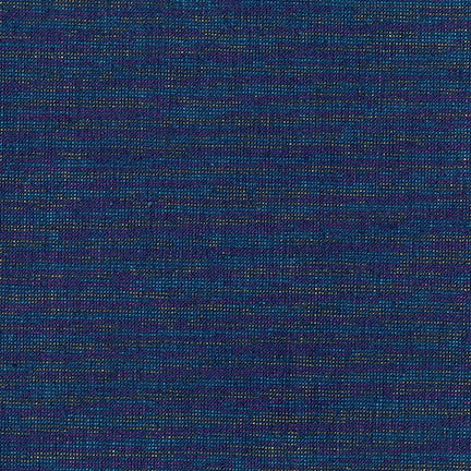 Fabric, Essex Yarn Dyed Metallic Navy E 105-1243