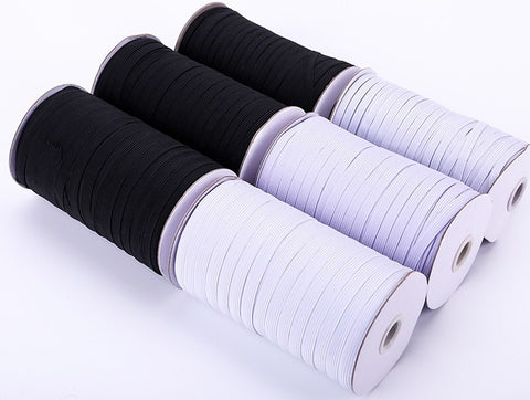 "Elastic, flat 6mm (1/4"") x 2m (78"") for face masks"