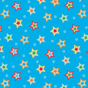 Fabric Flannel, Puppy Pals Stars F1594-11