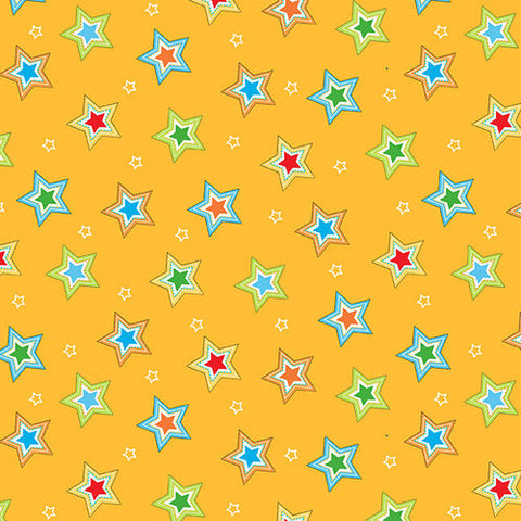 Fabric Flannel, Puppy Pals Stars F5194-33