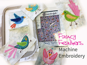 Fancy Feathers Machine Embroidery Quilt