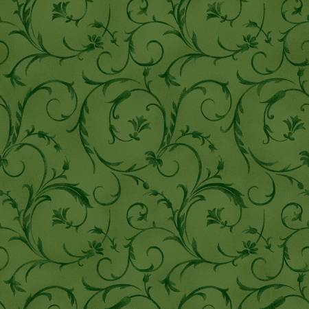 "Fabric, 108"" Wide Back, Beautiful Backing, Forest Green QB100M-G2"