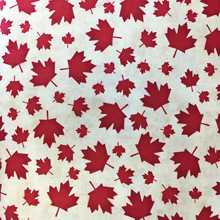 Fabric, The Way Home To Canada, Maple Leaf Toss 1839 86029 233